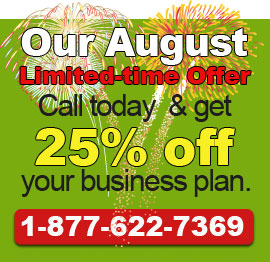 Call today to get our August Deal!. 1-877-622-7369.