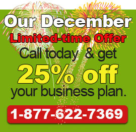 Call today to get our December Deal!. 1-877-622-7369.