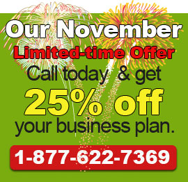 Call today to get our November Deal!. 1-877-622-7369.