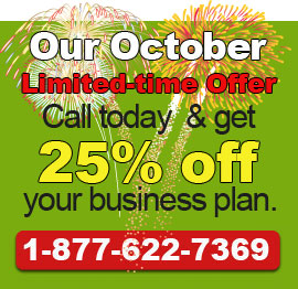 Call today to get our October Deal!. 1-877-622-7369.