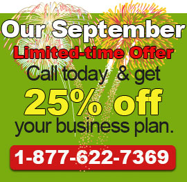 Call today to get our September Deal!. 1-877-622-7369.